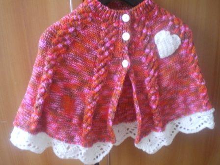 Pelerina tricotata pentru copii - Tricotaje pentru bebelusi si copii