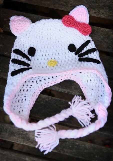 Caciulite crosetate - Hello Kitty