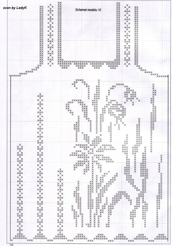схема филейного вязания туники - Схемы.