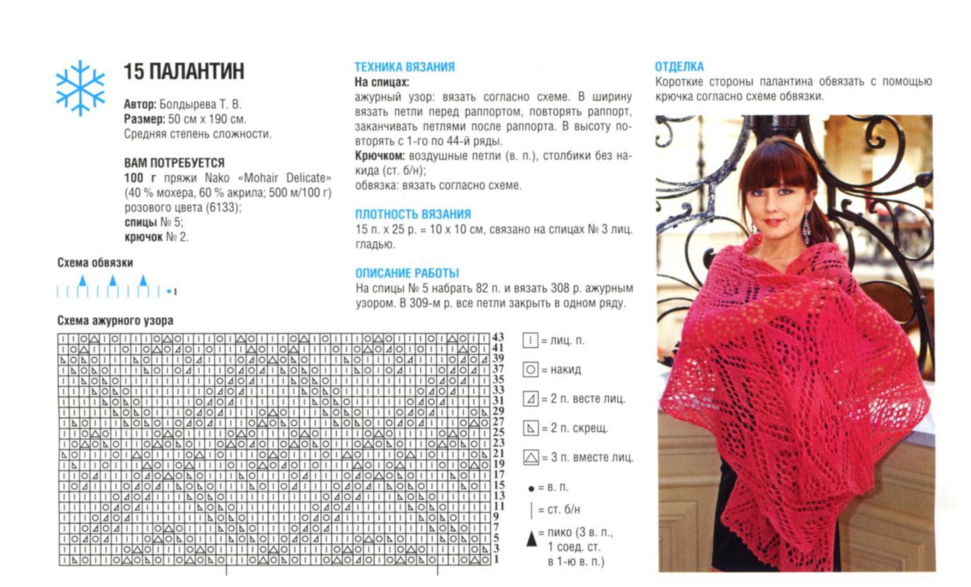 Вязание спицами палантины и шарфы схемы и описания