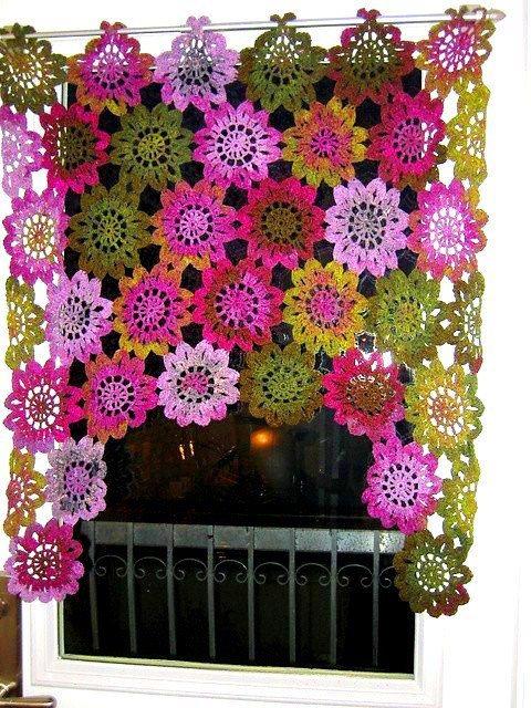 Perdea crosetata help accesorii crosetate - Cenefas de crochet ...